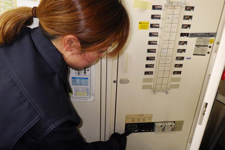 建物内の設備点検
